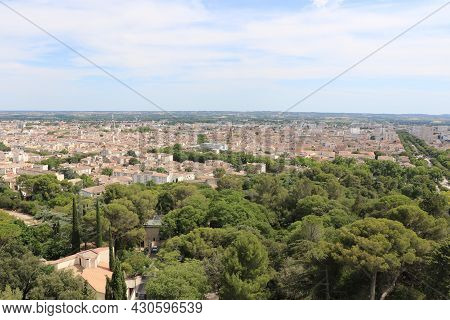 Panoramic View Of The City Of Nimes, France