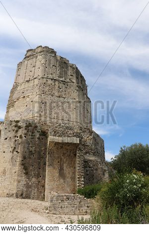 The Magne Tower In The City Of Nimes