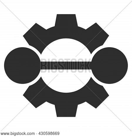Integration Gear Icon With Flat Style. Isolated Vector Integration Gear Icon Image On A White Backgr