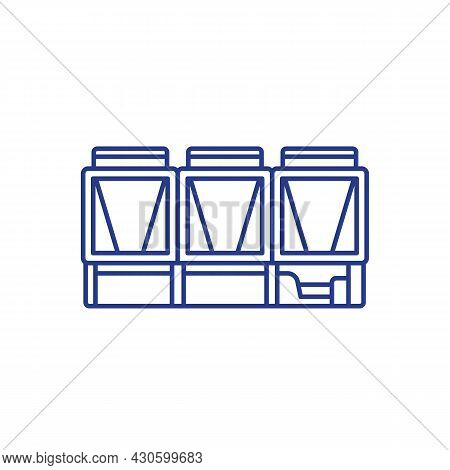 Chiller, Cooling System Line Vector Art, Icon