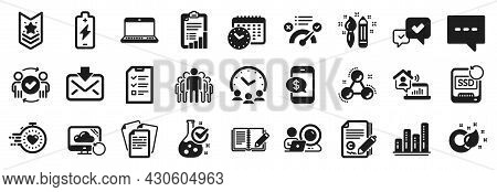 Set Of Education Icons, Such As Graph Chart, Blog, Interview Icons. Work Home, Chemistry Molecule, F