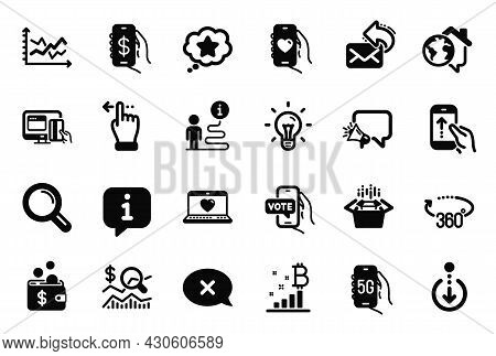 Vector Set Of Technology Icons Related To Web Love, Reject And Dating App Icons. Touchscreen Gesture