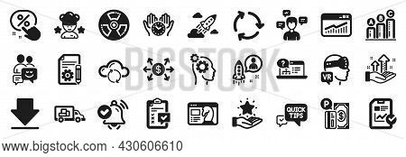 Set Of Technology Icons, Such As Recycling, Loyalty Program, Graph Chart Icons. Conversation Message