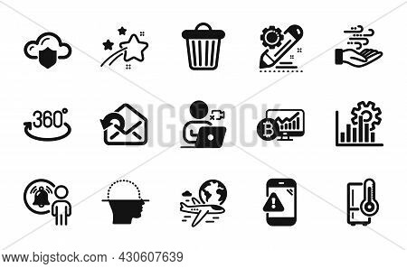 Vector Set Of International Flight, Project Edit And Video Conference Icons Simple Set. Refrigerator