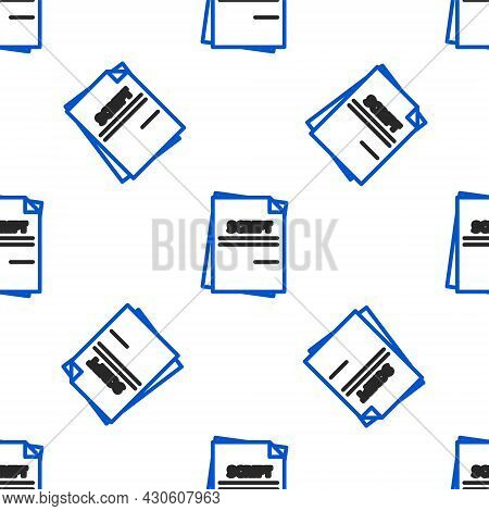 Line Scenario Icon Isolated Seamless Pattern On White Background. Script Reading Concept For Art Pro