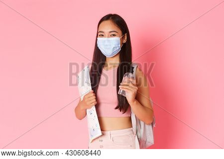 Safe Tourism, Travelling During Coronavirus Pandemic And Preventing Virus Concept. Portrait Of Thoug