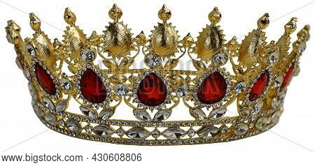 Golden Jeweled Crown With Many Sparkley Jewels