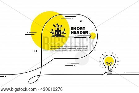 Puzzle With Many Options Simple Icon. Continuous Line Idea Chat Bubble Banner. Decide Jigsaw Sign. B