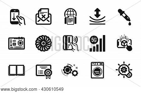 Vector Set Of Motherboard, Augmented Reality And Reject Letter Icons Simple Set. Fan Engine, Reject