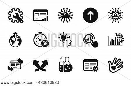 Vector Set Of Refresh Website, Social Responsibility And Coronavirus Statistics Icons Simple Set. Co