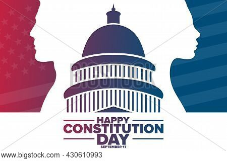 Happy Constitution Day And Citizenship Day. September 17. Holiday Concept. Template For Background,