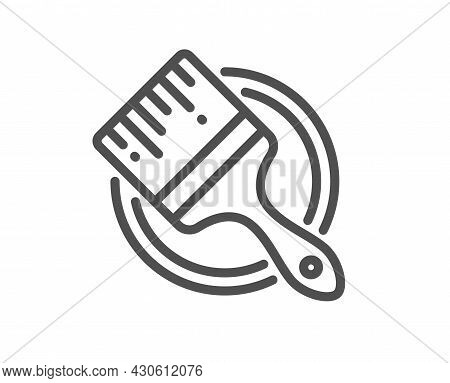 Paint Brush Line Icon. Wall Paintbrush Sign. Creative Drawing Art Symbol. Quality Design Element. Li