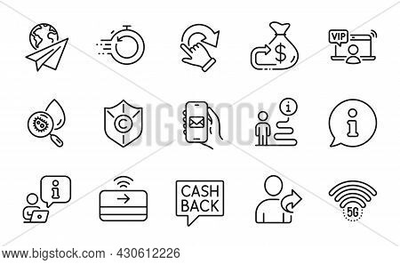 Business Icons Set. Included Icon As Water Analysis, Fast Recovery, 5g Wifi Signs. Refer Friend, Pap