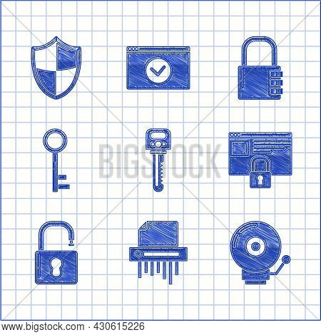 Set Key, Paper Shredder Confidential, Ringing Alarm Bell, Secure Your Site With Https, Ssl, Open Pad