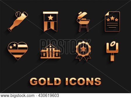 Set White House, Declaration Of Independence, American Football Goal Post, Medal With Star, Usa Inde