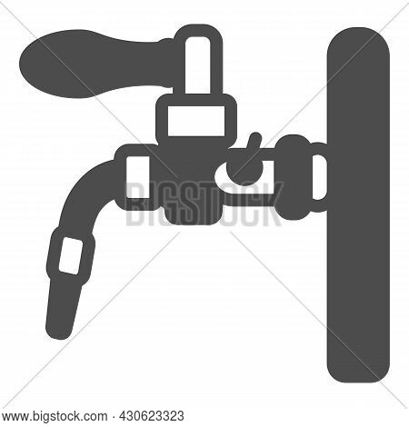 Beer Tap, Beer Dispensing System Solid Icon, Brewery Concept, Draft Beer Vector Sign On White Backgr