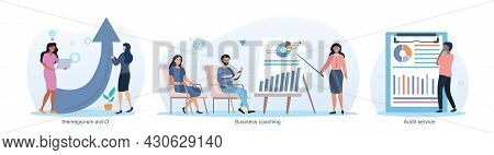 Consulting Company Abstract Concept. Business Coaching, Crisis Management, Audit Service, Employees