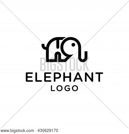 Elephant Logo Vector Icon Template On White Background. Elephant Symbol. Elephant Vector. Elephant I