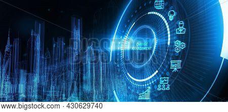 Change Management, Business Concept. Business, Technology, Internet And Network Concept. 3d Illustra