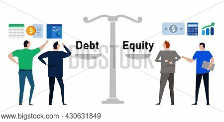 Debt To Equity Ratio Company Fundamental Review Financial Liabilities And Wealth For Investor