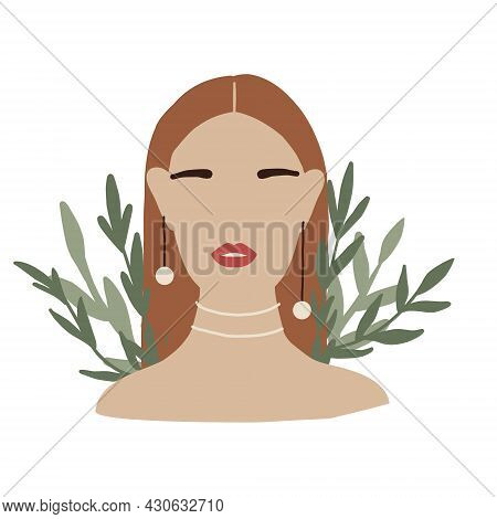 Abstract Woman In Minimal Style With Accessories. Modern Fashion Female Faceless Portrait. Girl In G