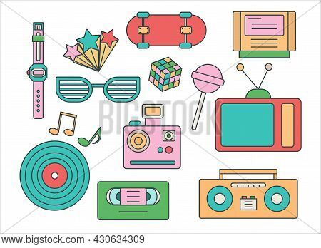 Item From 80s. Rare Items. Icons For Old Sites. Retro Style Picture. Nostalgia For Past. Elements Of