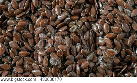 Flax seed background photographed with macro lens