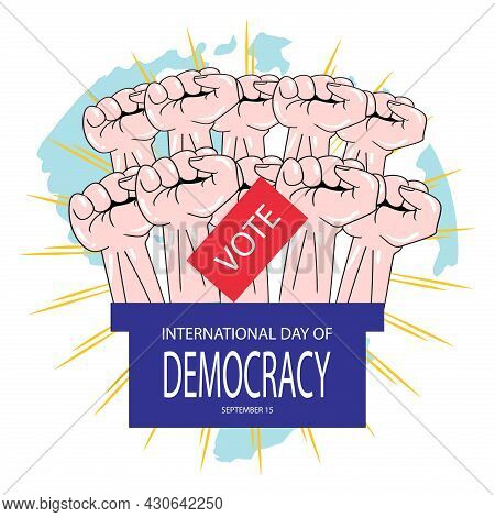 International Day Of Democracy, September 15. Poster Concept.