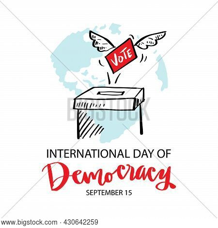 International Day Of Democracy. September 15. Poster Concept.