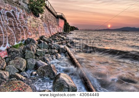 Wall Beside Ocean With Waves
