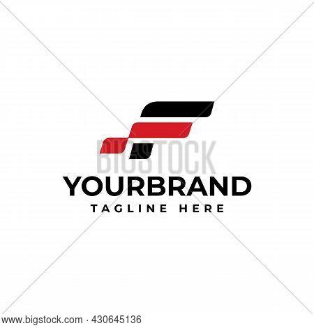Letter F Logo Icon Design Template Elements. Racing Logo Design Concept Template.