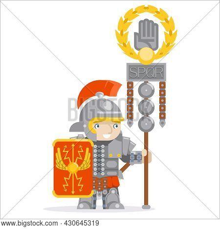 Legion Flag Roman Legionare Warrior Praetorian Guard Flagbearer Rpg Game Layered Animation Ready Cha