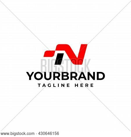 The Letter N Logo, For Your Corporate Identity. Racing Logo Design Concept Template.