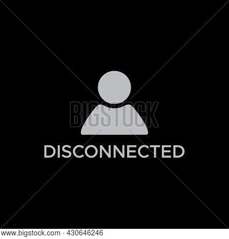 Disconnected Avatar Profile Photo Icon Vector - Icon