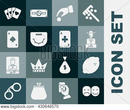 Set Poker Player, Casino Slot Machine With Lemon, Hand Holding Casino Chips, Table, Playing Card Spa