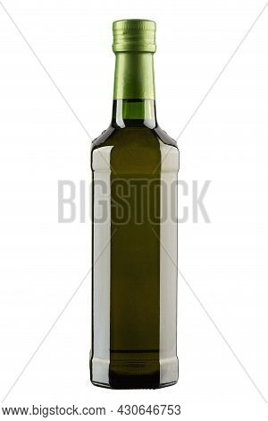 Extra-virgin Olive Oil Bottle Isolated On White Background. File Contains Clipping Path.
