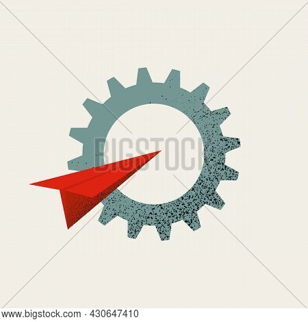 Business Process Automation Vector Concept. Symbol Of New Workflow, Transition And Transformation. M