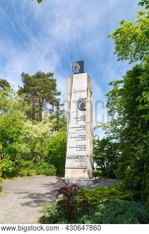 Kedzierzyn-kozle, Poland - June 4, 2021: Monument To The Victims Of The Second World War, The Citize