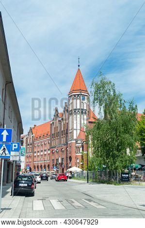 Gliwice, Poland - June 4, 2021: The Building Of The Former Main Post Office.