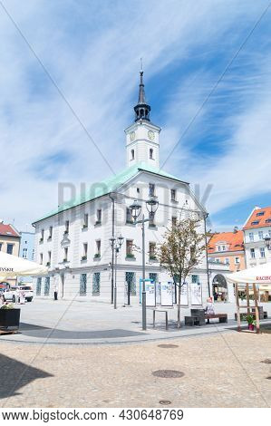 Gliwice, Poland - June 4, 2021: Town Hall On The Market Square.