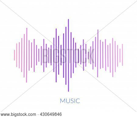 Amplified Sound Wave. Colorful Design With Sound Frequency Music Audio Waves For Technology Vector I