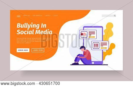 Online Bullying In Social Networks. Web Bullying And Cyberbullying Technologies. Attacks On Psyche O