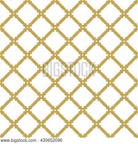 Geometric Abstract Vector Pattern. Geometric Modern Golden Ornament. Seamless Modern Golden Backgrou
