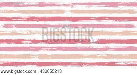 Watercolor Brush Stroke Stripes Grunge Seamless Pattern.