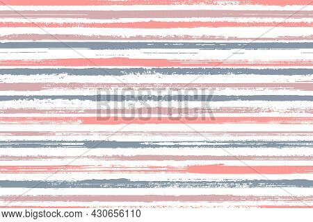 Ink Freehand Straight Lines Vector Seamless Pattern. Colored Serape Ethnic Textile Design. Old