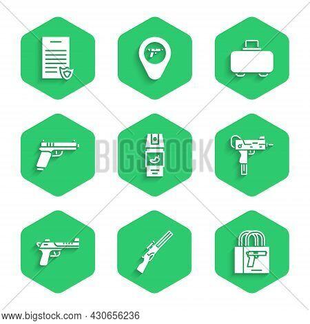Set Pepper Spray, Hunting Gun, Buying Pistol, Uzi Submachine, Desert Eagle, Pistol Or, Weapon Case A