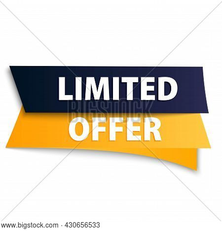 Limited Offer. Promotion, Bright, Abstract, Orange Banner. Advertising For Active Sales And Business