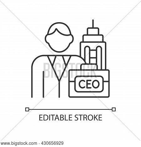 Chief Executive Rgb Linear Icon. Ceo Of Corporation. Chief Executive Officer, Administrator. Thin Li