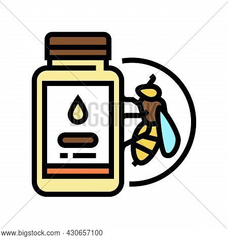 Royal Jelly Beekeeping Color Icon Vector. Royal Jelly Beekeeping Sign. Isolated Symbol Illustration