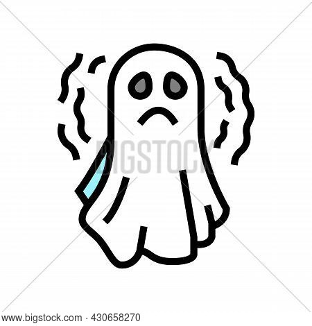 Ghost Halloween Color Icon Vector. Ghost Halloween Sign. Isolated Symbol Illustration
